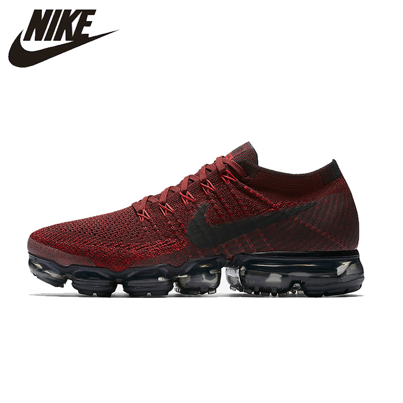 NIKE Air VaporMax Flyknit Original Men Running Shoes Stability Height Increasing Breathable Lightweight Sneakers #849558-601