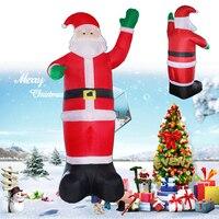 1.2 3.5M Inflatable Santa Claus Christmas Tree Outdoor Lawn Yard Decor Airblown 220V