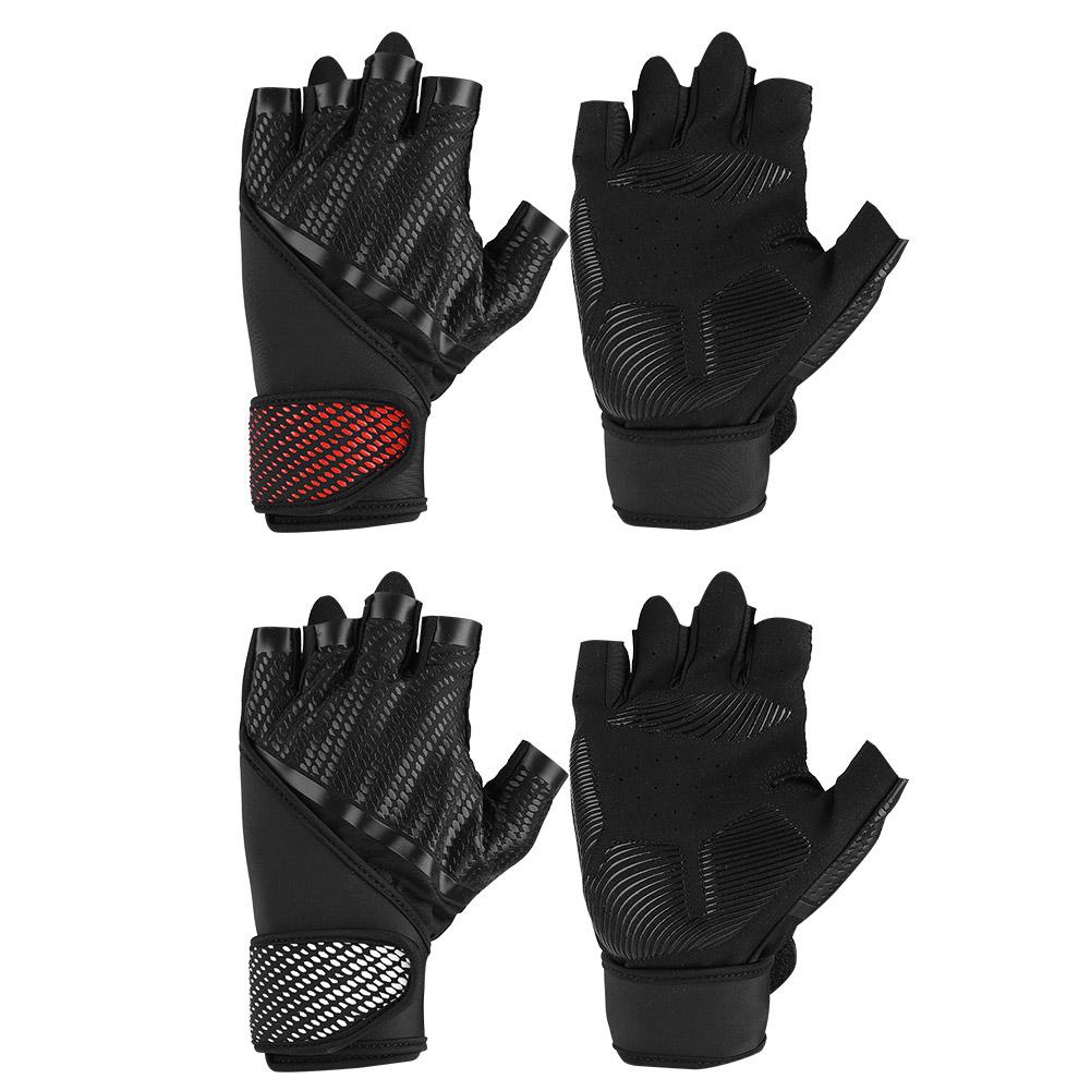 Mesh Weight Lifting Gloves: Bicycle Gloves Half Finger Weight Lifting Gym Fitness