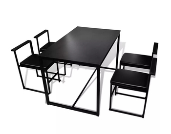 Vidaxl современный металлический 5 шт обеденный стол и стул