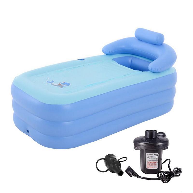 Règles américaines bain gonflable chaud froid épais en plastique enfants bain baril salle de bain bébé bain baril coussin de sécurité