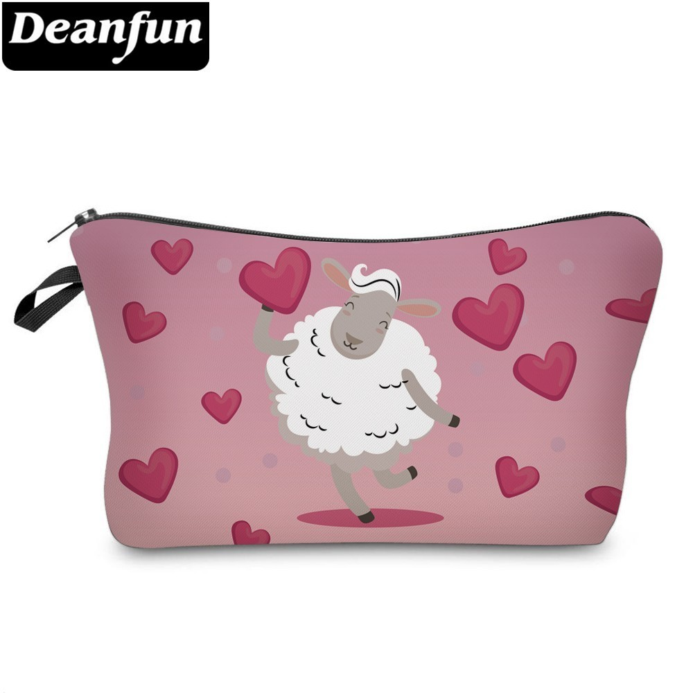 Deanfun Llama Hearts Cosmetic Bag Waterproof Makeup Bags Cosmetics Pouchs Travel Organizer Storage Gift 51440 in Cosmetic Bags Cases from Luggage Bags