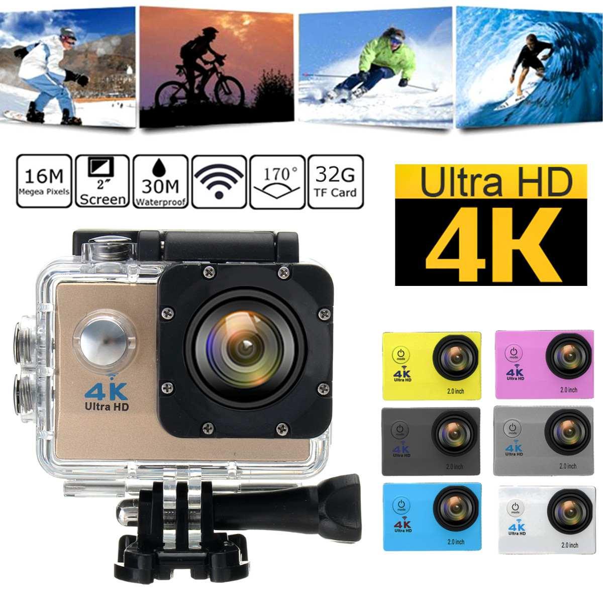 SJ9000 Водонепроницаемая ультра 4K HD 1080P WiFi Спортивная экшн-камера видеокамера DV видео