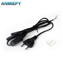 1,8 м 2 ядра линия питания лампа кабельный разъём с переключателем светодиодный светильник разъем ЕС вилка соединительный кабель 220 В 110 В