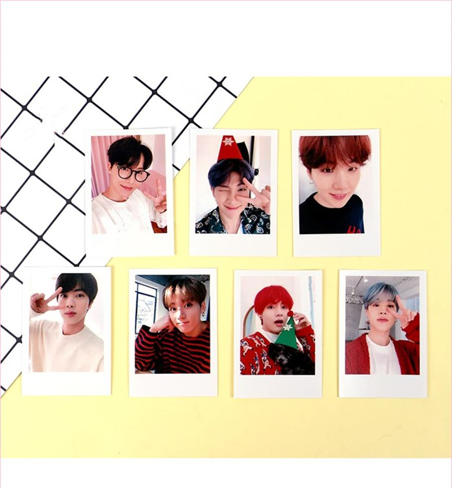 Jewelry Findings & Components 2019 Fashion Kpop Bts Christmas Polaroid Photo Cards Bangtan Boys Photocard Love Yourself Poster 7pcs/set Beads & Jewelry Making