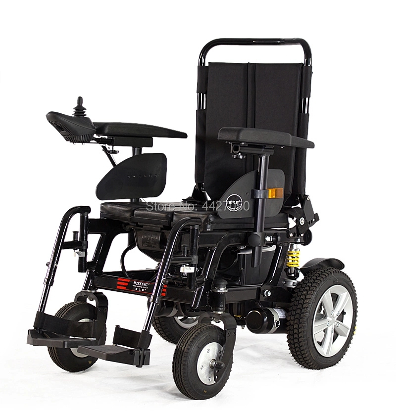 2019 Free shipping High quality commode chair electric wheelchair portable toilet wheelchair with soft leather seat