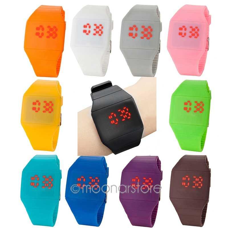 חדש זכר מקרית LED אצבע מסך שעוני גברים דיגיטלי שעון גבר סיליקון שעון יד שעון Hodinky Ceasuri Relogio Masculino