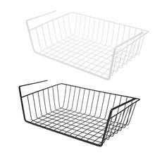 Подвесная под шкаф железная полка для хранения сетчатая корзина с делениями кухонная стойка подставка для разделочного блока разделочная доска полотенце шкаф с ящиками двери