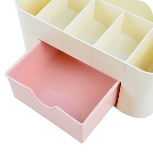 Image 5 - 1PC Plastic Cosmetic Storage Box Multifunction Desktop Storage Boxes Drawer Makeup Organizers Stationery Storage Organizer