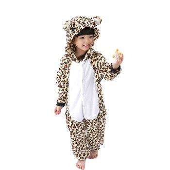 Фланелевая пижама с рисунками животных для мальчиков и девочек ... 0f4f1e20c29a2
