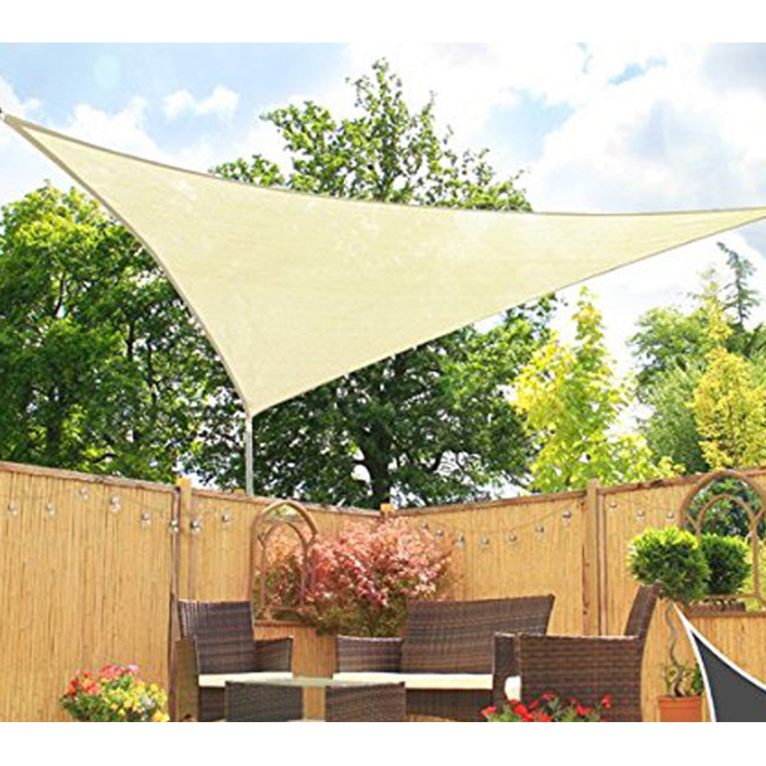 Us 30 47 3 6m Beige Outdoor Waterproof Sunshade Sail Canopy Patio Awning Garden Uv Camping Shelter Decor 2019 Summer New Arrival In Awnings From