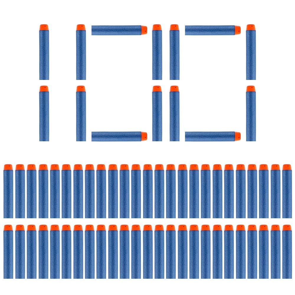 100PCS Freccette Per Nerf Morbido Foro Cava Testa di 7.2 centimetri Refill Freccette Giocattolo Proiettili di Pistola per Nerf Serie Blasters natale Dei Bambini Del Capretto Del Regalo