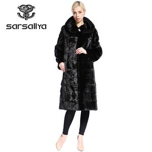 Image 3 - SARSALLYA Real Fur Style Fashion Fur Coat Genuine Leather Mandarin Collar Good Quality Mink Fur Coat Women Natural Black Coats