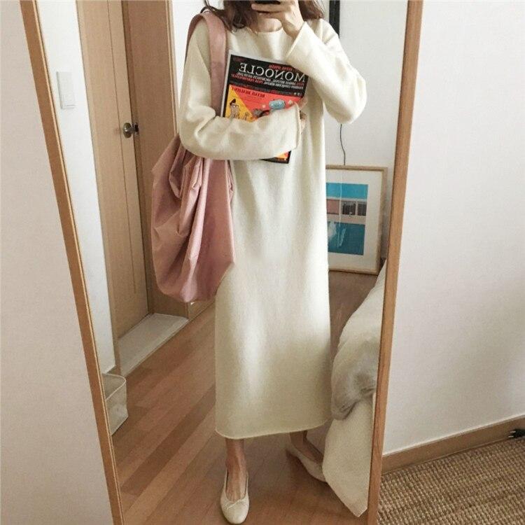 Платье женское вязаное большого размера по фигуре