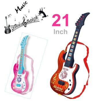Guitarra Educativos Los Regalo 21 Flash Como Nuevo Juguete Pulgadas De Instrumentos Musicales Niños Para Juguetes Eléctrica Año Música wuTZlPkXiO