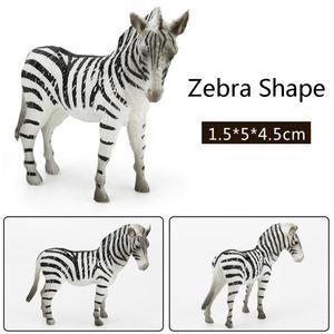 Image 4 - 12Pcs Simulated Wild Animals Model Toy Doll Lion Zebra Panda Orangutan Giraffe Rhinoceros Tiger PVC Action Figure Hot Set Toys
