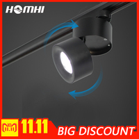 led track lighting spotlight track light black white modern cob home lamp 12w wall lamp for clothes shoe store showroom shop