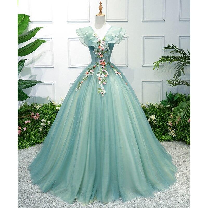 Fête Art Performance scène Solo Costume robe de chœur brodé Dames Couture Noble robe élégante anniversaire
