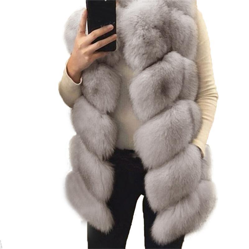 Faux Fur Warm Vest Coat Furry Sleeveless Jacket Coat Women Fashion All-match Winter Faux Fur Vest Jacket Women