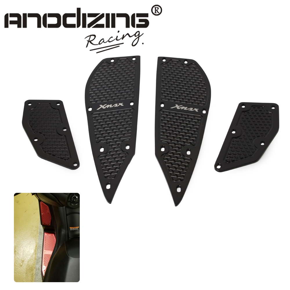 Moto repose-pieds pédales CNC repose-pieds tapis pédales en alliage d'aluminium renforcé repose-pieds pour YAMAHA Xm0ax 300 XMAX300 17 18