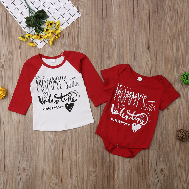 2019 Summer season Massive Sister Little Brother Household Matching Toddler Youngsters Child Boys Little Brother Romper Women Massive Sister Tshirt