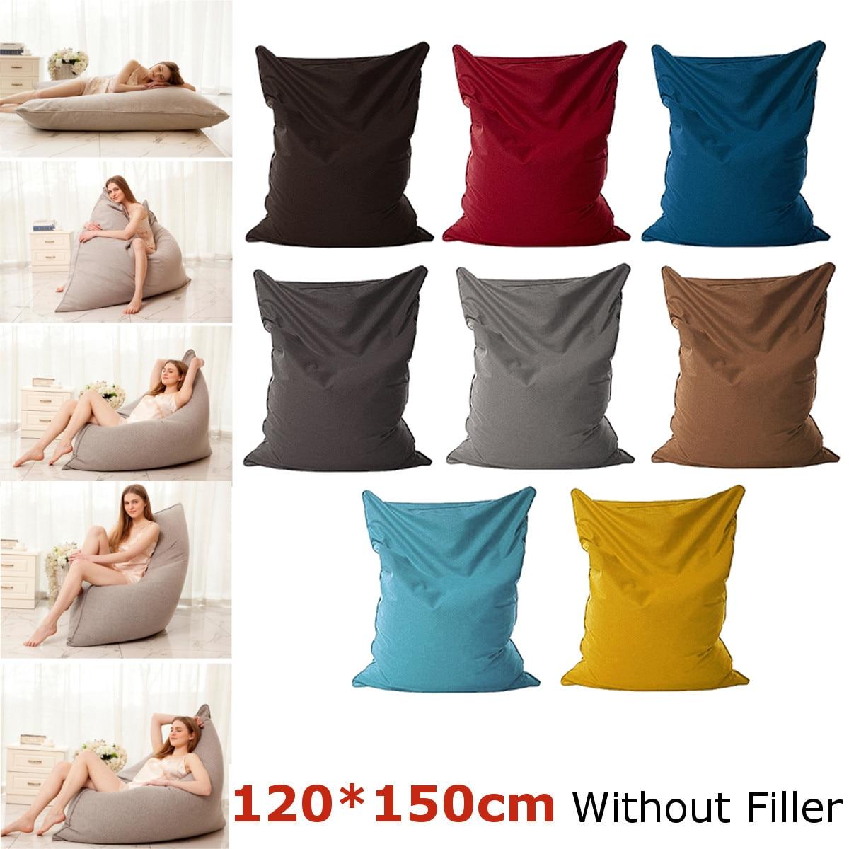 8 types paresseux pouf canapés imperméable à l'eau en peluche stockage des animaux jouet haricot sac solide couleur chaise couverture pouf canapés avec doublure Pol