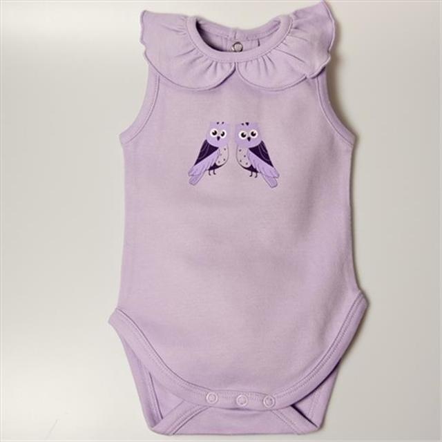 Little Ashkim BGCBS69 Ruffled Collar Sleeveless Bodysuit – Lilac 6-9 months