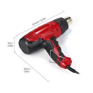 Image 2 - 2000 Вт Воздушный пистолет тепловой пистолет горячий воздух пистолет для пайки фен для волос строительные тепловые Пистолеты для строительства фен промышленный электроинструмент