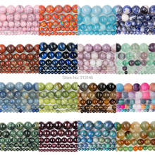 Bulk Wholesale Assorted Natural Round Full Strand Healing Gem Semi Precious Stone Beads for DIY Bracelet Necklace Jewelry Making(China)