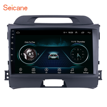 Seicane Android 8.1 9 inch Wifi Head Unit Radio Audio GPS Multimedia Player For 2010 2011 2012 2013 2014 2015 KIA Sportage image