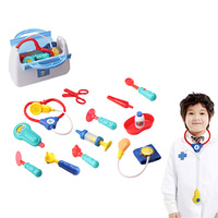 Doctor Set Pretend Play Toy Hospital Medicine Box Injection Stethoscope Nurse Dress Up Game Educational Toys For Children Gift