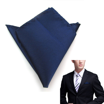Men Hanky Satin Solid Color Plain Suits Pocket Square Wedding Party Handkerchief Blazer Pocket towel