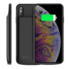 For iPhone Xs Max Battery Charger Case 6000mAh Rechargeable Power Bank External Backup Charger Case For iPhone Xs Max cover