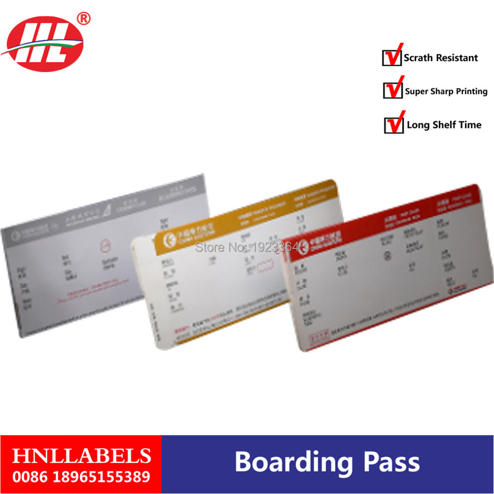 Customized Paper Printing Movie Admission Entrance Ticket/boarding Pass Airline Tickets