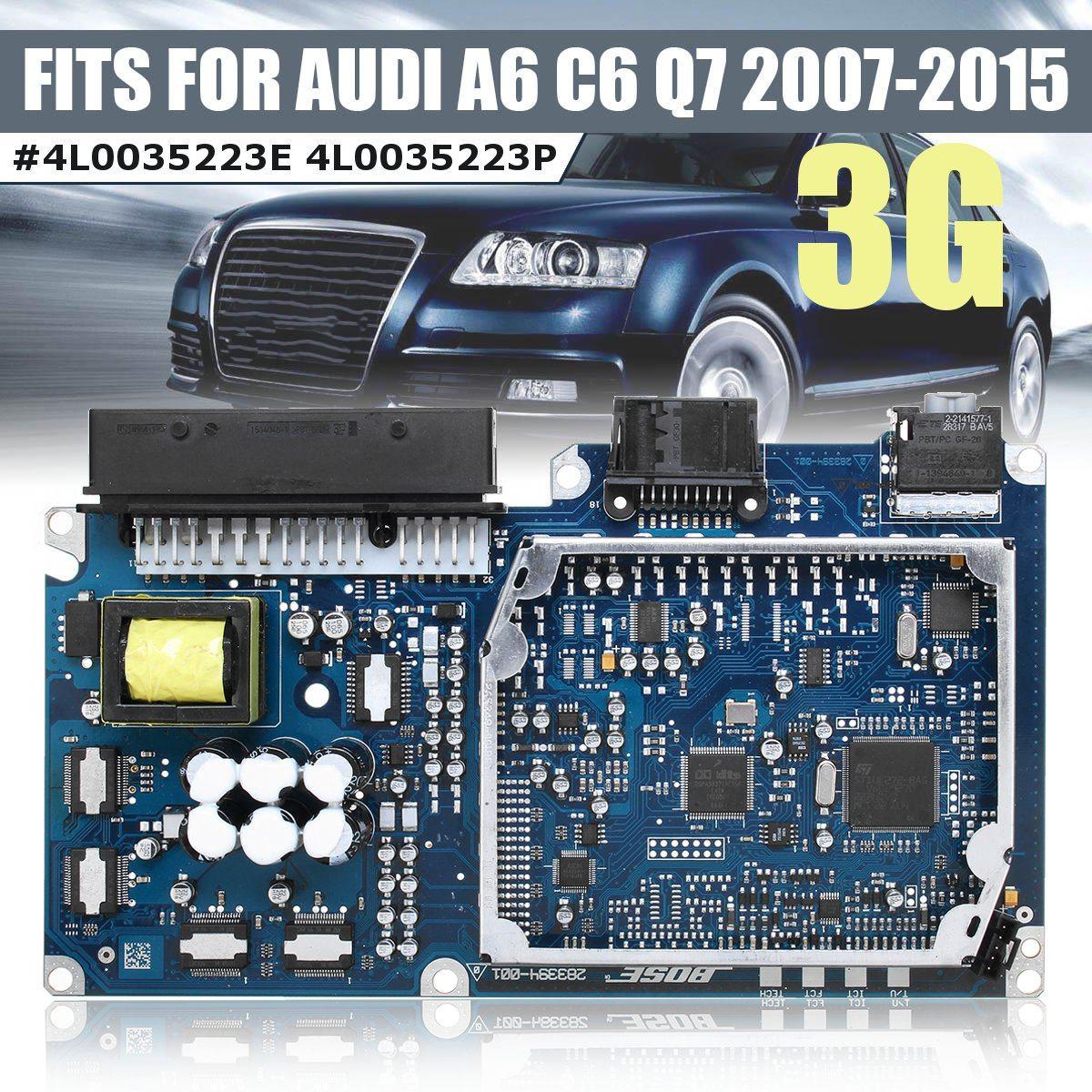 Optical Fiber Multimedia Power Amplifier Board 3g 2g For Audi A6 C6 Q7 2007 2008 2009 2010 2011 2012 2013 2014 2015 #4l0035223p