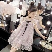 b9b76be49 Girl Kids Clothes Dresses For Girls Princess In Will Child Sleeveless  Frivolous Gauze Lace Dress Moana
