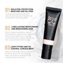 Makeup CC Cream Face Care Oil-control Whitening Eye Dark Circles Moisturizing Foundation Base Concealer