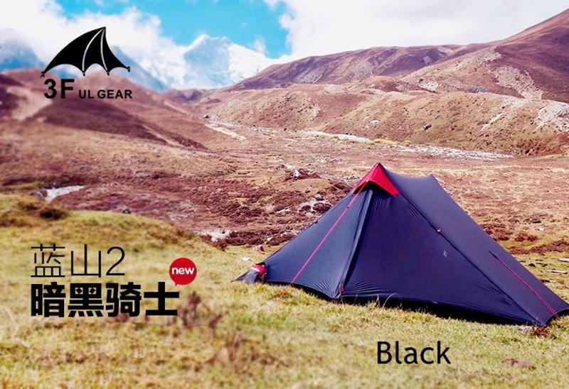 3F UL GEAR LanShan 2 personnes Oudoor ultra-léger tente de Camping 3 saisons professionnel 15D Silnylon tente sans fil - 6