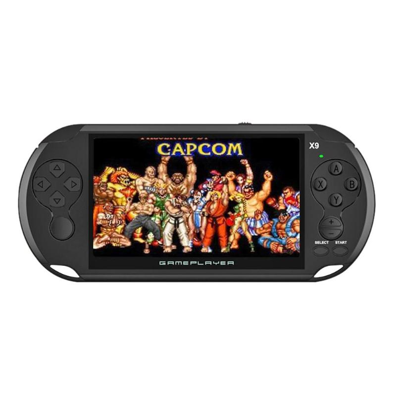 X9 5 inch Handheld Game Console Support 128-bit Arcade Games Built-in 3000 Classic Games for GBA NES Video Player High Quality