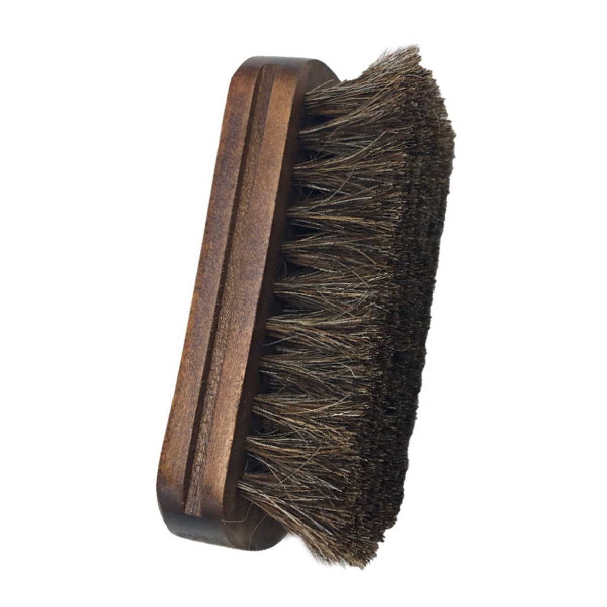 Horsehair Shoe Shine Brush Soft Genuine Horse Hair Bristles Wood Handle Shoes Leather Care