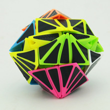 Strange Shape Cube Eye Cube Candy Body With Black Carbon Fibre Sticker Magic Cube Twist Puzzle Cubo Magico Toys For Children time machine magic cube time machine cube cubo with extra free stickers collection cube best gift for cubers