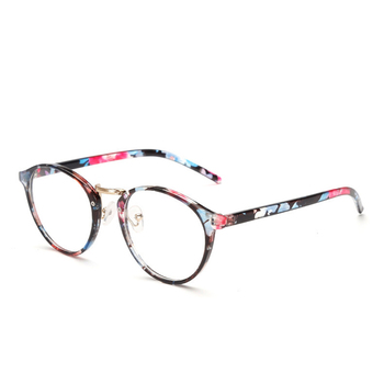 Zilead Women Floral Fnished Myopia Glasses Metal Round Nearsighted Glasses For Lady Short-sight Glasses With Degree -1.0to-4.0 1