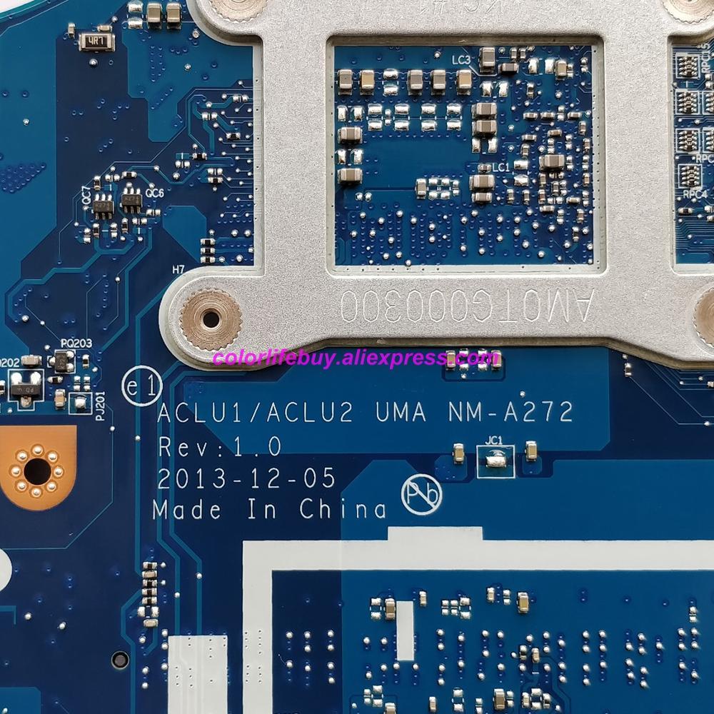 מפתחות ושלטים 5B20G45441 NM-A272 אמיתי w Mainboard האם מחשב נייד מעבד i5-4210U עבור מחשב נייד Lenovo Z50-70 (5)