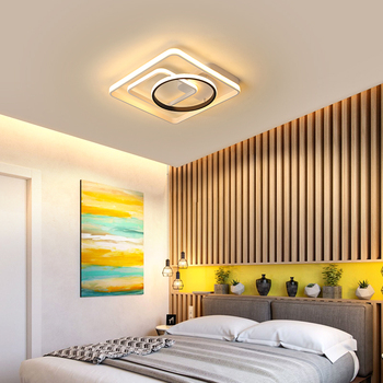 DAR Square Ceiling Lamp Modern Led Acrylic Shade Living Room Fixture Bedroom Kitchen Surface Mounted Aluminum Body Ceiling Light