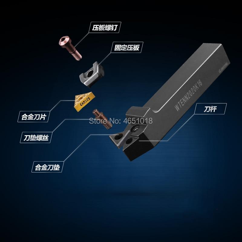 Free Delivery WTENN1616H16 WTENN2020K16 WTENN2525M16 WTENN3232P16 CNC Lathe Tool Bar Cutting Handle in Turning Tool from Tools