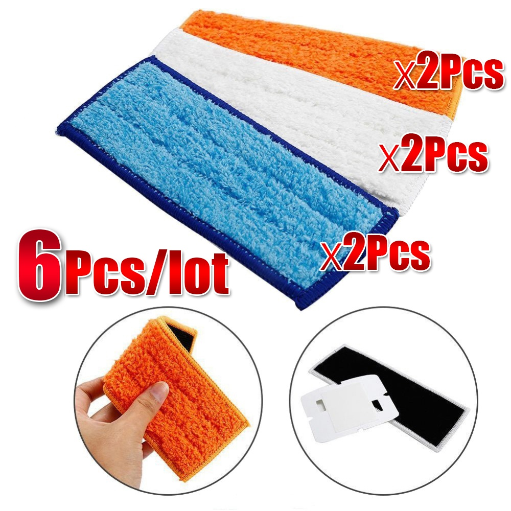 Botique-6PcsLot Top Quality Cleaner Brushes Spare Parts Wet Pad Mop+Damp Pad Mop+Dry Pad Mop For Braava jet240241