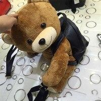 Super of lovely bear backpack parent child bag stuffed cartoon Plush Animal Backpack A balloon soft plush