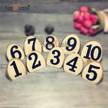 10pcs Rustic Wooden Table Numbers Rack Party Decoration on The Table Number Holder Home Supplies Club Wedding Decor Wood Signs 10pcs rustic table numbers wooden name place cards holders rack wedding party direction signs shabby chic number home decoration
