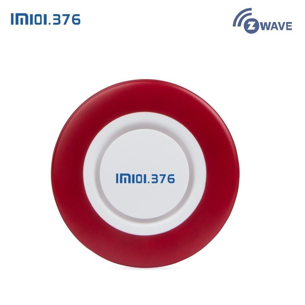 LM101.376 forte sirène intérieure sans fil clignotant sirène alarme klaxon lumière rouge sirène stroboscopique pour Zwave maison et entreprise alarme sécurité