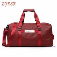 Fashion Portable Travelling Bags Duffle Luggage Carry on Bag Pu Leather Packing Cubes Organizador Big Travel Bag Bagsmart